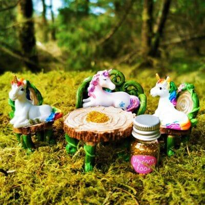 unicorn ornament figurine set
