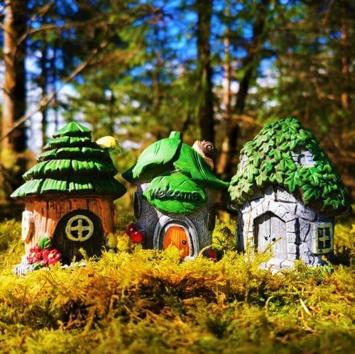 fairy house village set