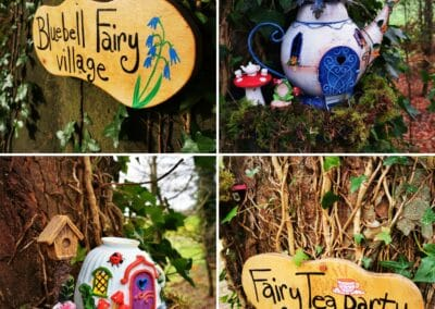 fairy houses in the trees