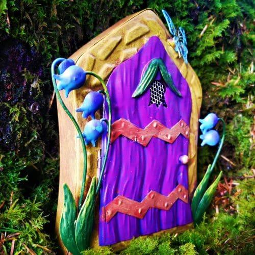 purple metal fairy door