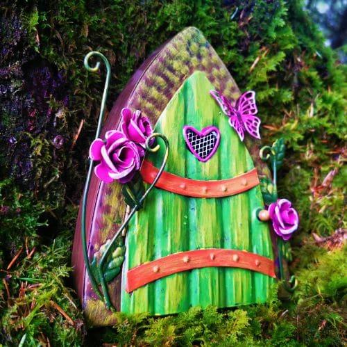 green and pink fairy doorway