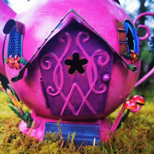 pink fairy door house