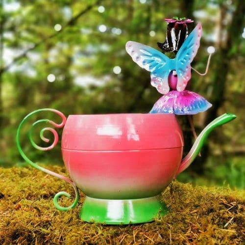 teapot pink planter