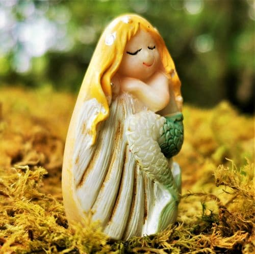 mermaid and shell ornament