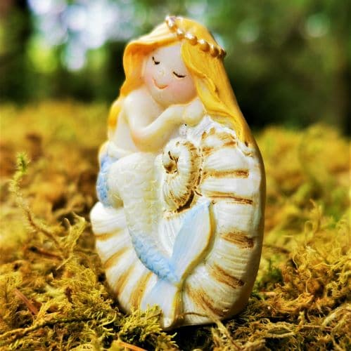 mermaid with blue tail figure
