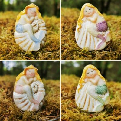 set of mermaid ornaments