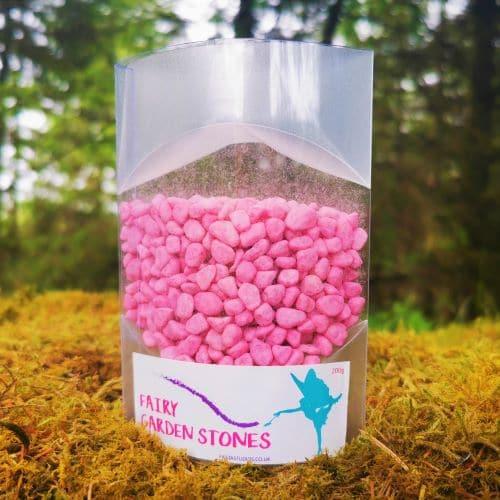 pink fairy garden gravel