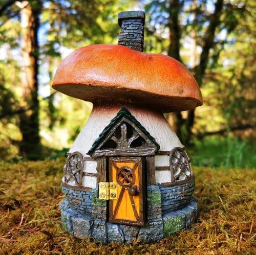 fiddlehead mushroom cottage fairy house