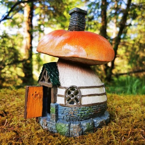 mushroom opening door house