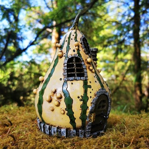 gourd fairy garden house