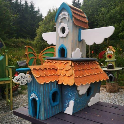 handmade fairy house for trail