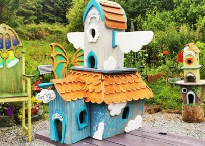 handmade fairy houses for trail