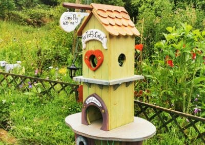 handmade wooden fairy house