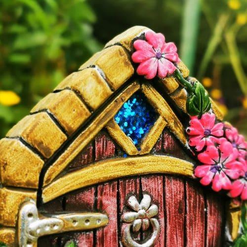 sparkly detail of fairy door