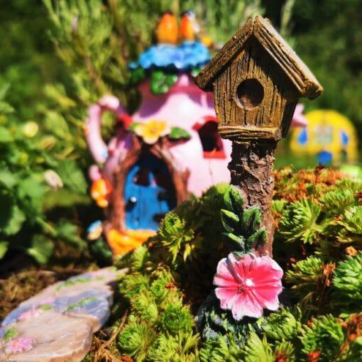 miniature fairy garden birdhouse
