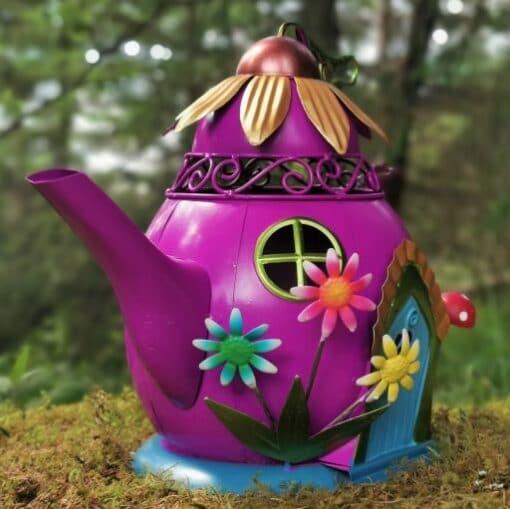 teapot fairy garden house