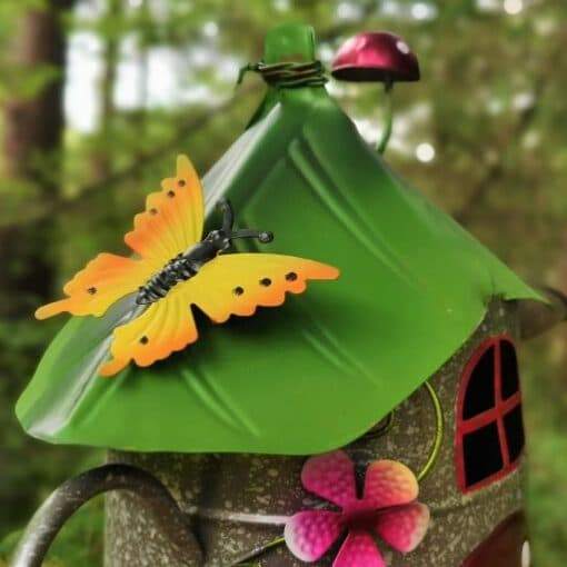 metal fairy house roof