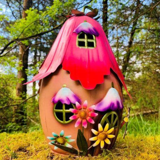 metal fairy garden house