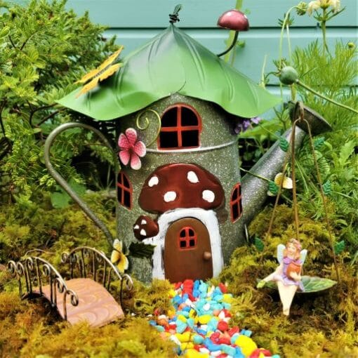 watering can fairy house kit