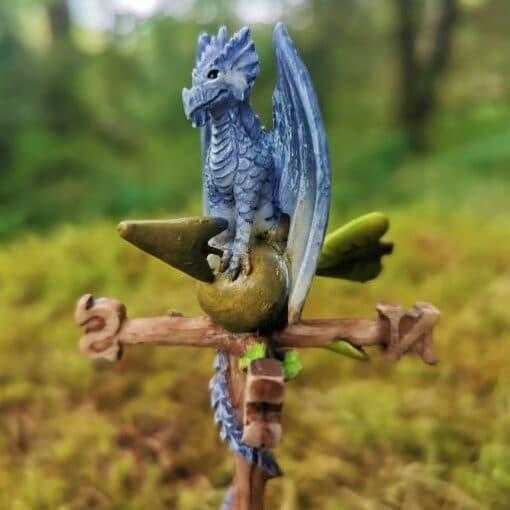 fairy garden dragon weathervane