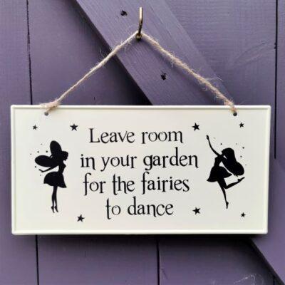 metal fairy sign