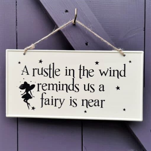 outdoors fairy sign