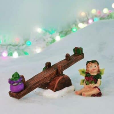 christmas fairy see saw