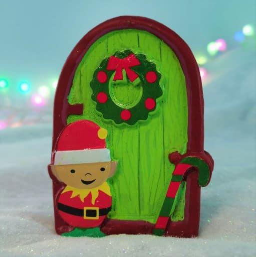 Christmas elf fairy door